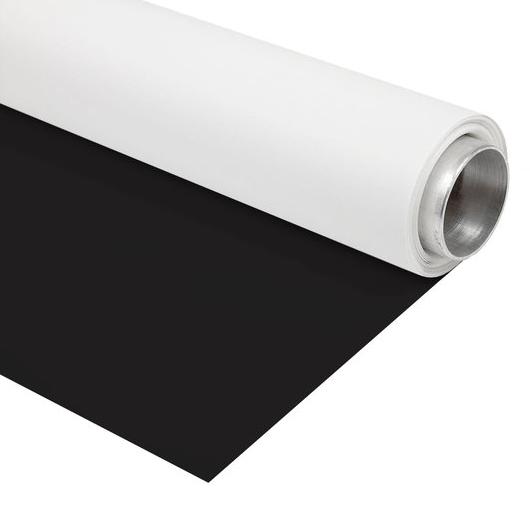 BRESSER Vinyl achtergrondrol zwart/wit 1,35x4m