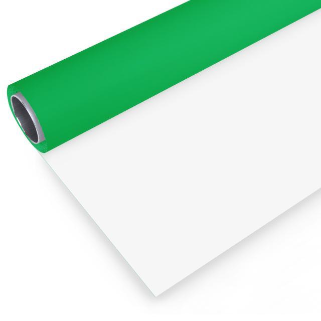 BRESSER Vinyl achtergrondrol groen/wit 2.72x6m