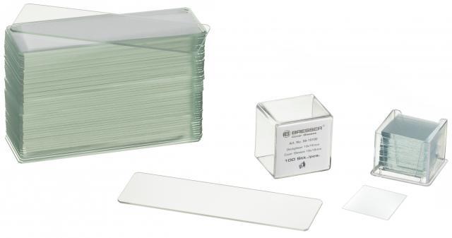 BRESSER Object- en Dekglaasjes 50/100 stuks