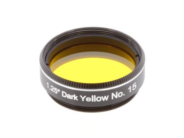 "EXPLORE SCIENTIFIC filter 1,25"" donkergeel nr.15"