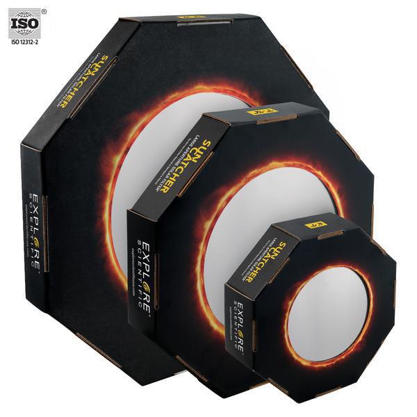 """EXPLORE SCIENTIFIC Sun Catcher Zonnefilters voor 9""""- 10"""" Schmidt-Cassegrain Telescopen"""