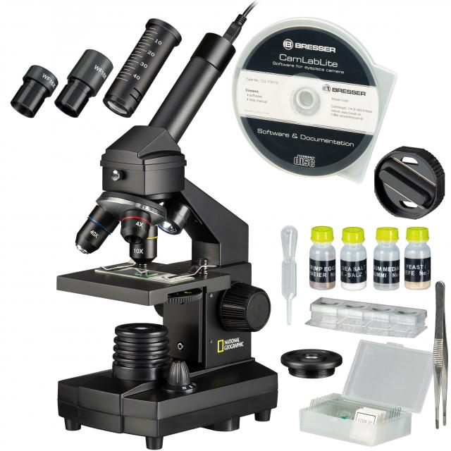 NATIONAL GEOGRAPHIC 40x-1024x Microscoop (koffer en USB oculair inclusief)