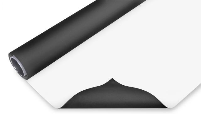 BRESSER Vinyl achtergrondrol zwart/wit 2,00x3m