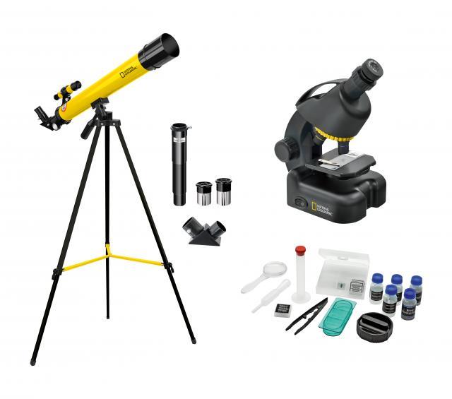 NATIONAL GEOGRAPHIC telescoop + microscoop set voor beginners