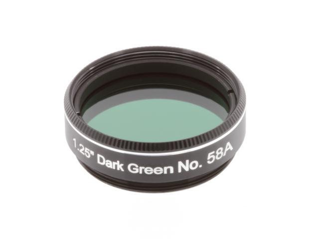 "EXPLORE SCIENTIFIC filter 1,25"" donkergroen nr.58A"