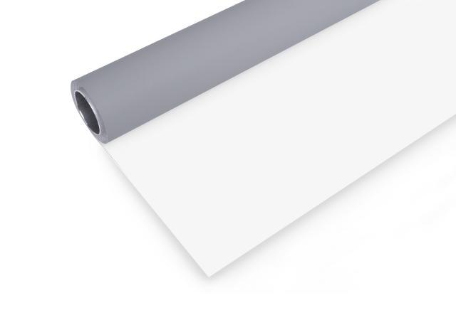 BRESSER Vinyl achtergrondrol 2x6m grijs/wit