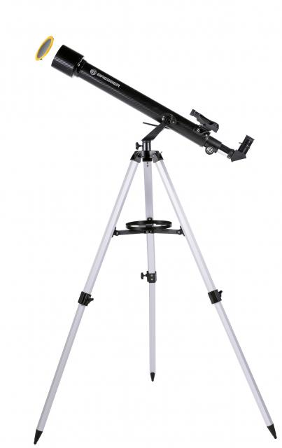 BRESSER Arcturus 60/700 AZ carbon design -Lens telescoop met smart-telefoon camera adapter